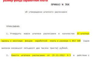 Форма т-3 скачать — приказ об утверждении штатного расписания