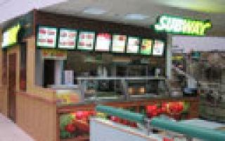 Франшиза «subway» — ресторан быстрого обслуживания