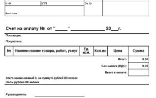 Бланк счета на оплату — скачать образец счета с ндс и без ндс