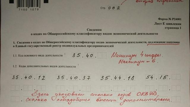 Внесение изменений в ЕГРИП: регистрация, заявление и документы
