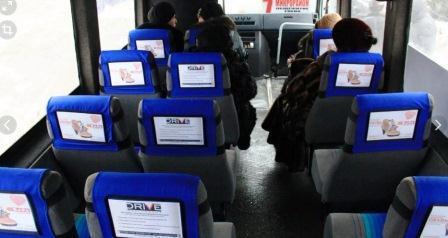 Реклама в маршрутках на подголовниках - как продавать