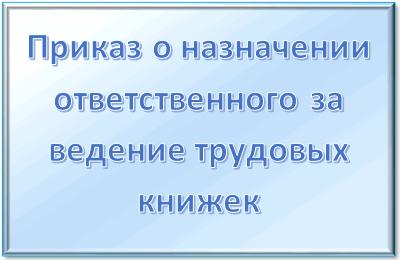 Назначение ответственного за ведение кадрового делопроизводства: приказ, акт и порядок
