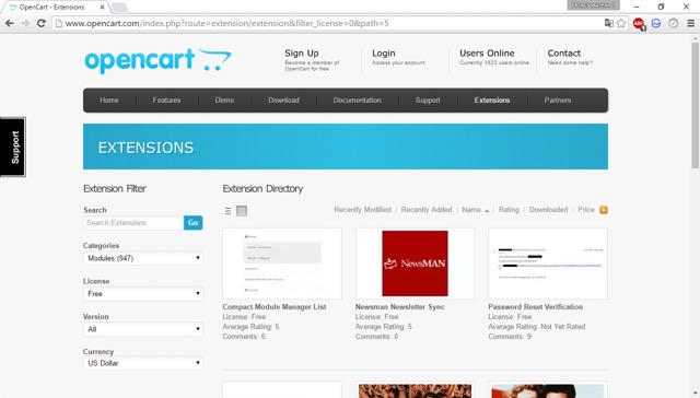 Как устанавливать расширения и плагины для opencart правильно
