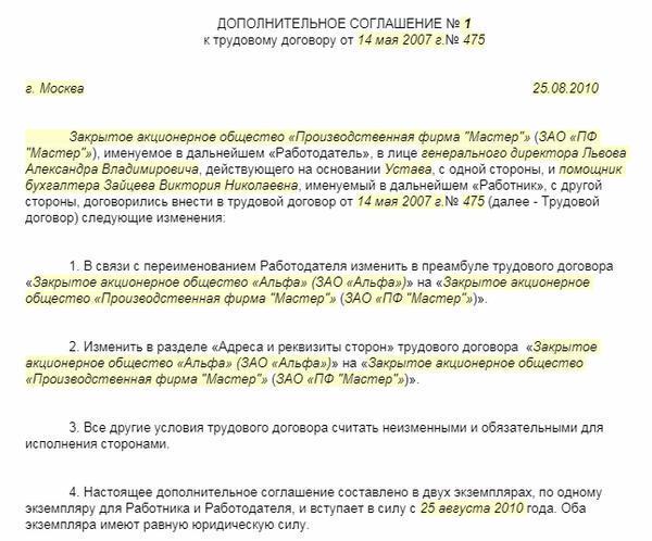 Смена названия организации: порядок и список документов