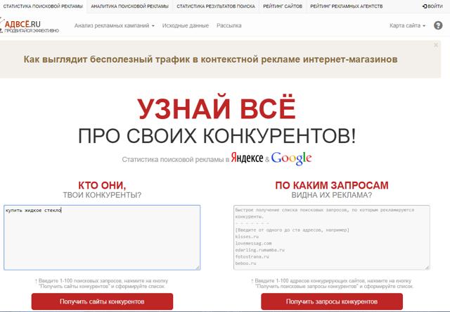 Анализ конкурентов в Яндекс Директ
